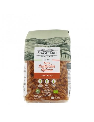 Trivelline di Farro con Lenticchie e Quinoa
