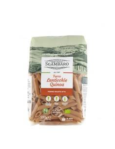 Penne Rigate di Farro con Lenticchie e Quinoa